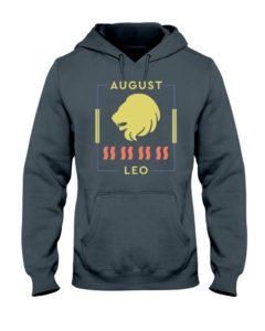 August Leo Gray Hooded Sweatshirt