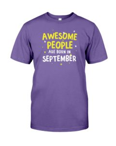 Awesome People Are Born In September Premium Fit Mens Tee