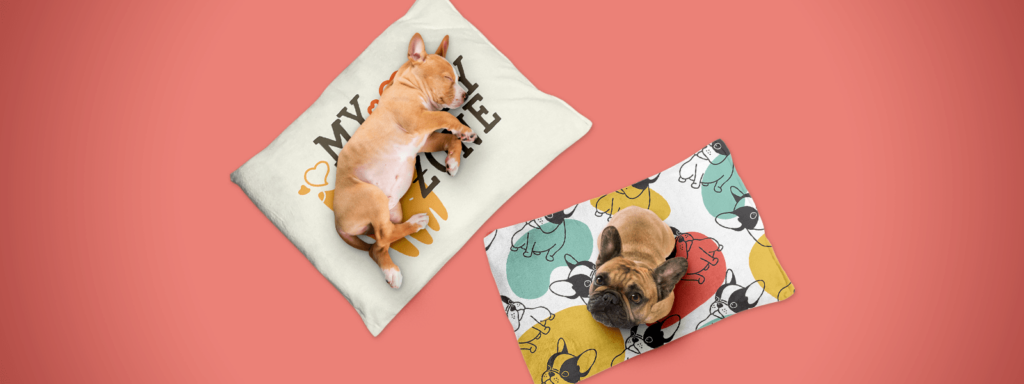 Dogs on Pet Beds Cover