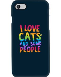 Cat lover colorful phone case