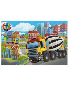 Concrete Mixer Jigsaw Puzzle for Kids