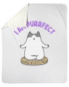 I Am Purrfect Blanket
