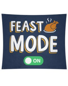 Feast Mode On Wall Tapestry