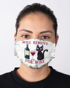 Funny Cat Wine Face Mask