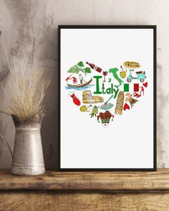 Love Italy Design Vertical Poster