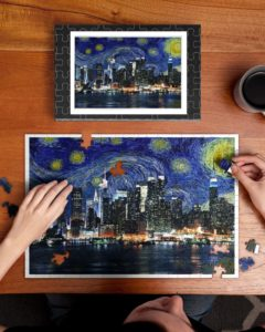 New York Skyline Starry Night Jigsaw Puzzle