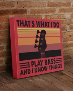 I Play Bass And I Know Things Poster