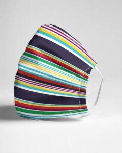 Summer Stripe Face Mask
