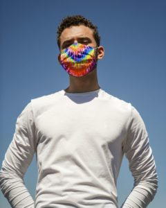 Tie-dye Colorful Face Mask