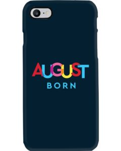 colorful august born phone case