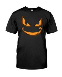 Halloween T-Shirt Scary Pumpkin Face