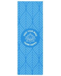 blue yoga mat free your mind think happy