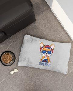 Corgi I Like Music Pet Bed