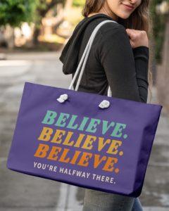 Believe Weekender Tote