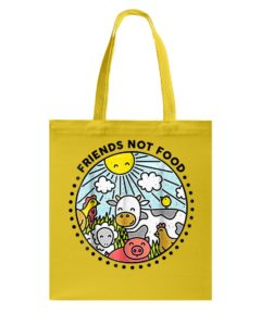 Friends Not Food Vegan Tote Bag