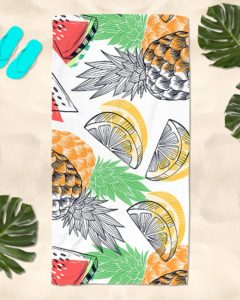 Fruits Tropical Beach Towel