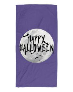 Happy Halloween Moon Beach Towel