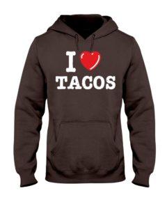 I Love Tacos Hooded Sweatshirt