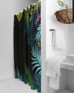 Jungle Palm Print Shower Curtain