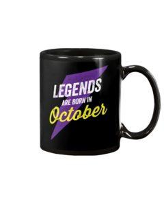 Legends Are Born in October Mug