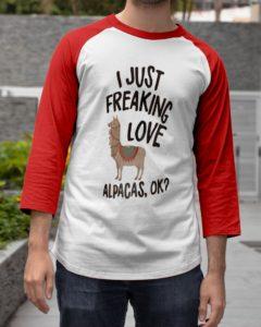 Love Alpacas Design Baseball Tee