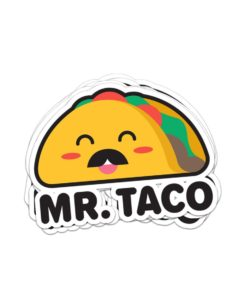 Mr Taco Laptop Sticker