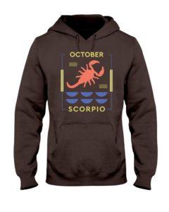 October Scorpio Hooded Sweatshirt