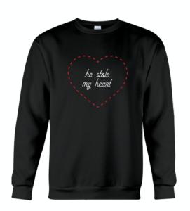 He Stole My Heart Sweatshirt
