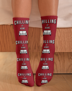 Chilling at Home Crew Length Socks