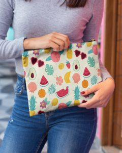 Summer Pattern Accessory Pouch
