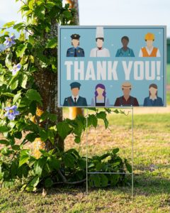 Thank you Essential Workers Yard Signs