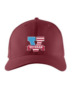 V For Veterans Embroidered Hat