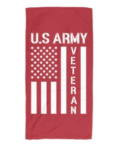Veteran Flag US Army Beach Towel