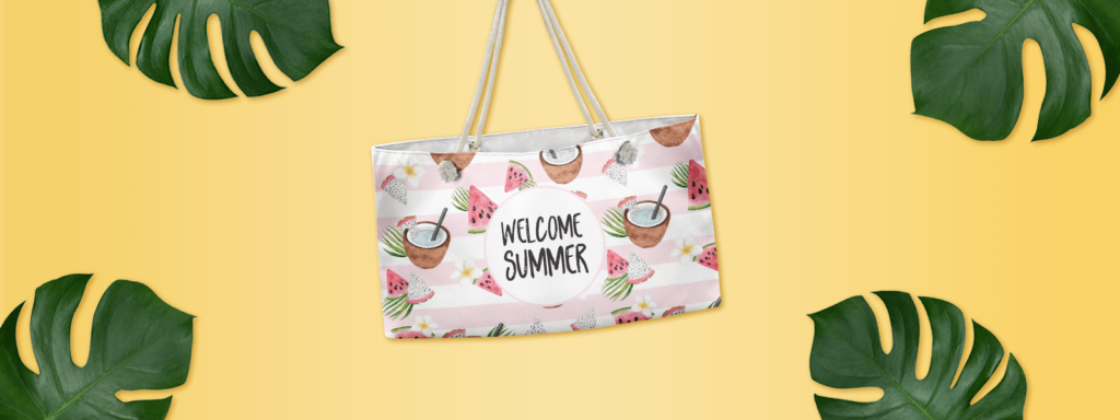 Welcome Summer Weekender Tote Bag