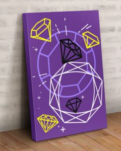 Diamonds Gallery Wrapped Canvas Prints