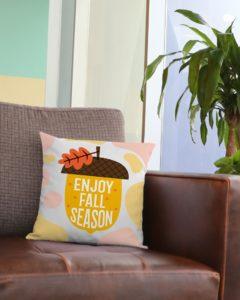 Enjoy Fall Season Square Pillowcase