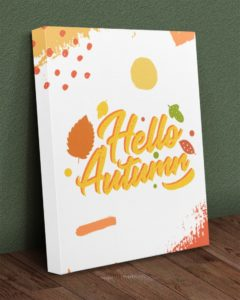 Hello Autumn Gallery Wrapped Canvas Prints