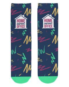 Home Sweet Office Crew Length Socks