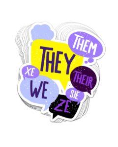 Non-Binary Pronouns Sticker