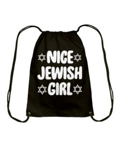 Nice Jewish Girl Hanukkah Drawstring Bag