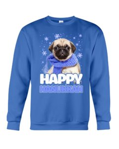 Pug Happy Hanukkah Crewneck Sweatshirt