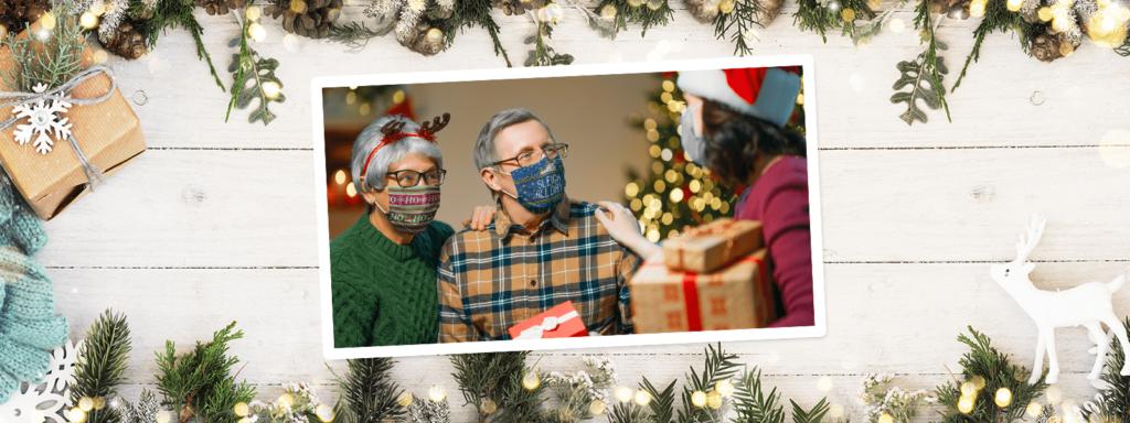 Ugly Christmas face masks TeeChip