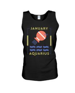 January Aquarius Unisex Tank