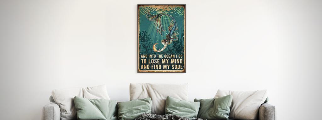 Mermaid Design on Poster
