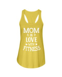 Mom in love with fitness Ladies Flowy Tank