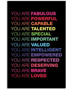 You Are Fabulous Vertical Poster
