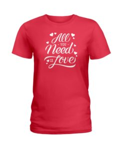 All You Need is Love Ladies T-Shirt