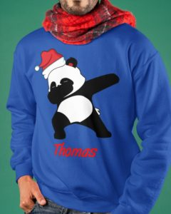 Dabbing Panda Personalized Design Crewneck Sweatshirt