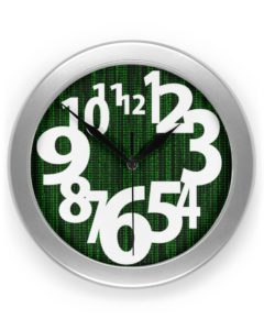 Awesome Artistic Numbers Matrix Clock