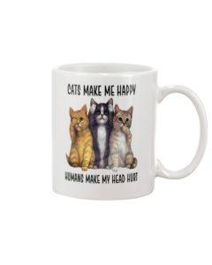 Cats Make Me Happy Mug